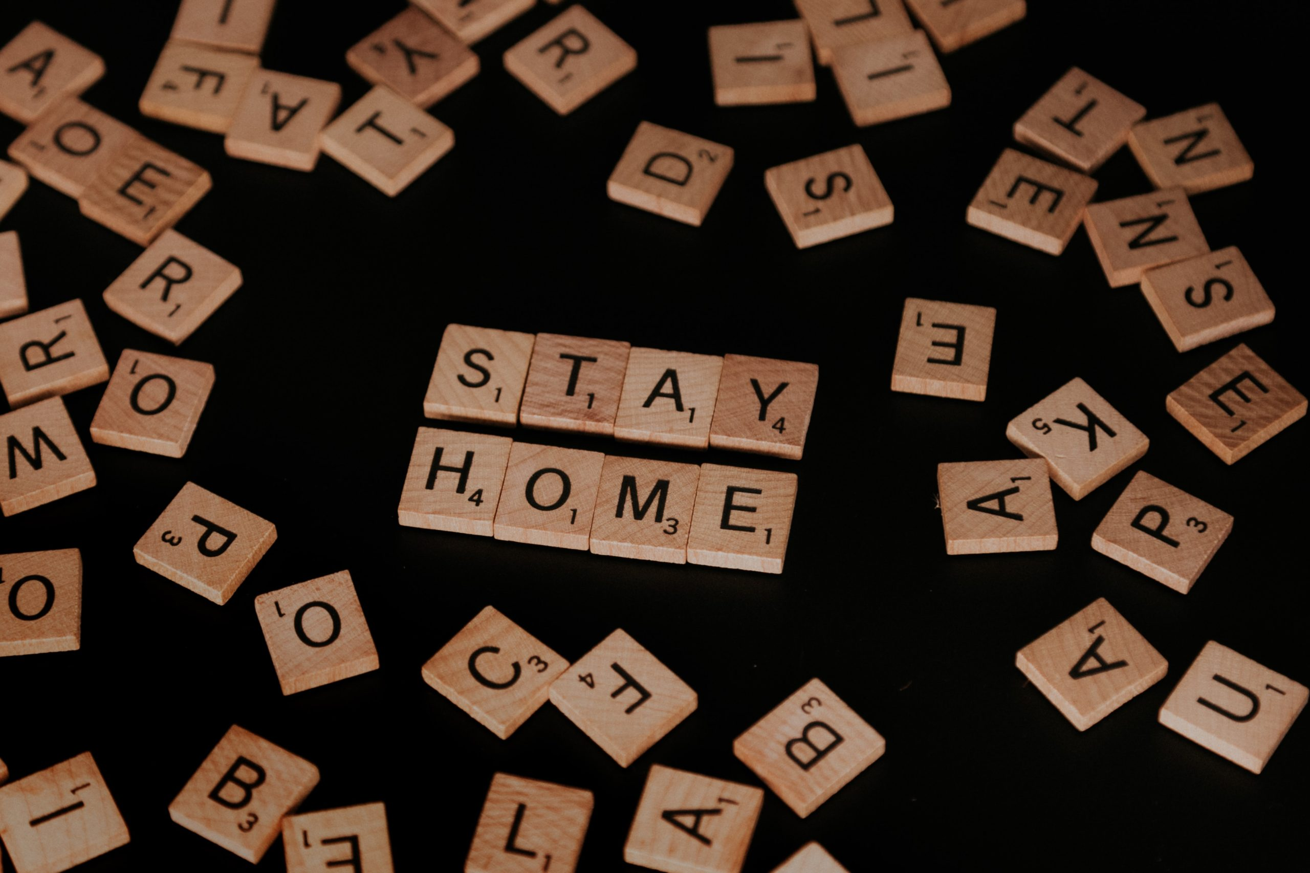 Stay home scrabble words