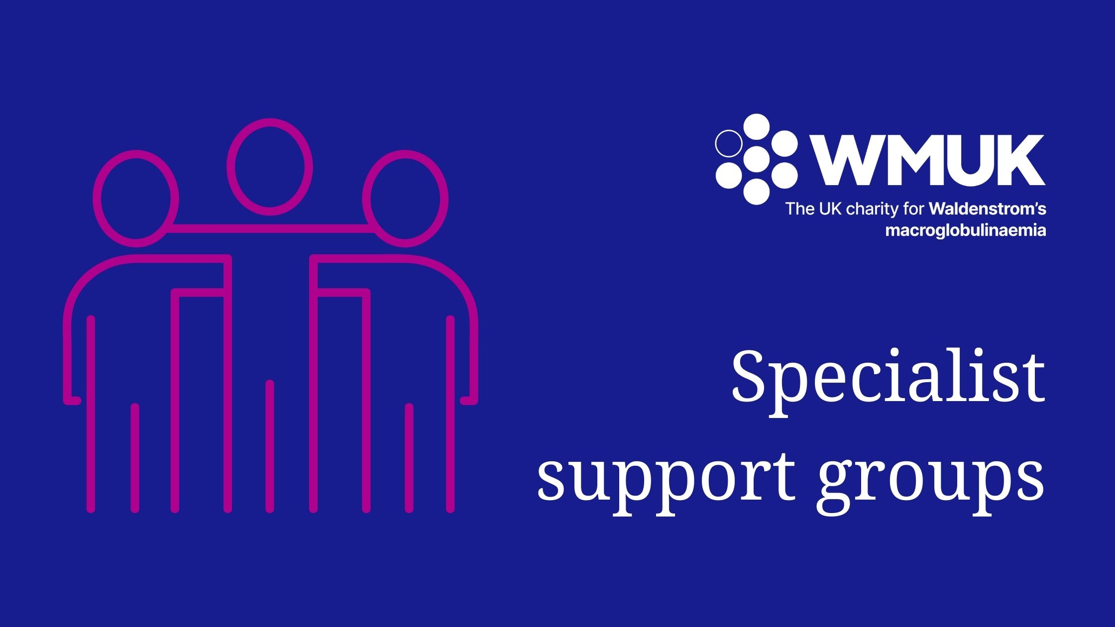 Specialist support groups banner